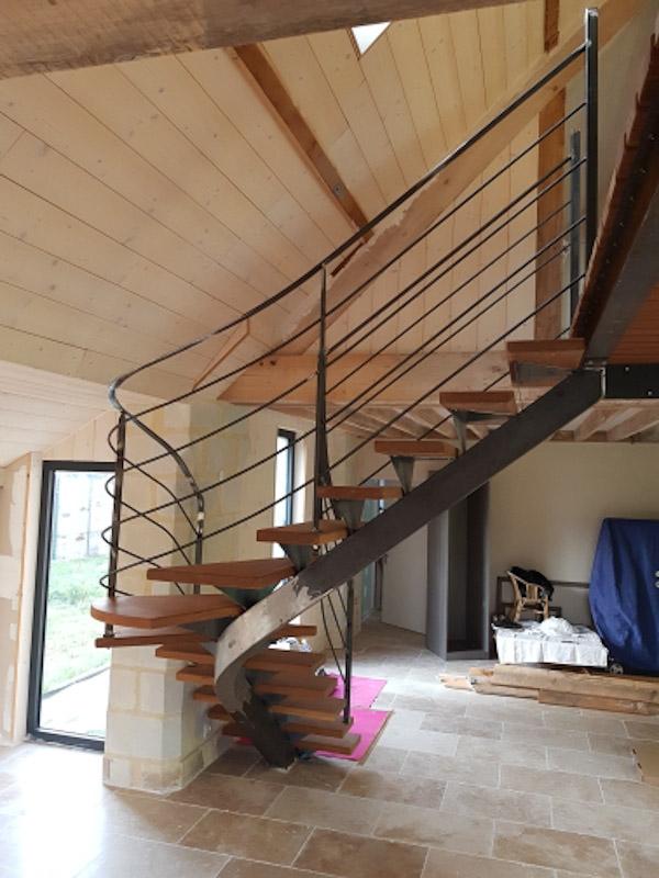 metal 3d angers escalier creation acier