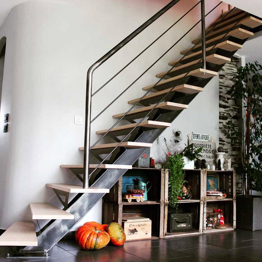 escalier sur-mesure metal